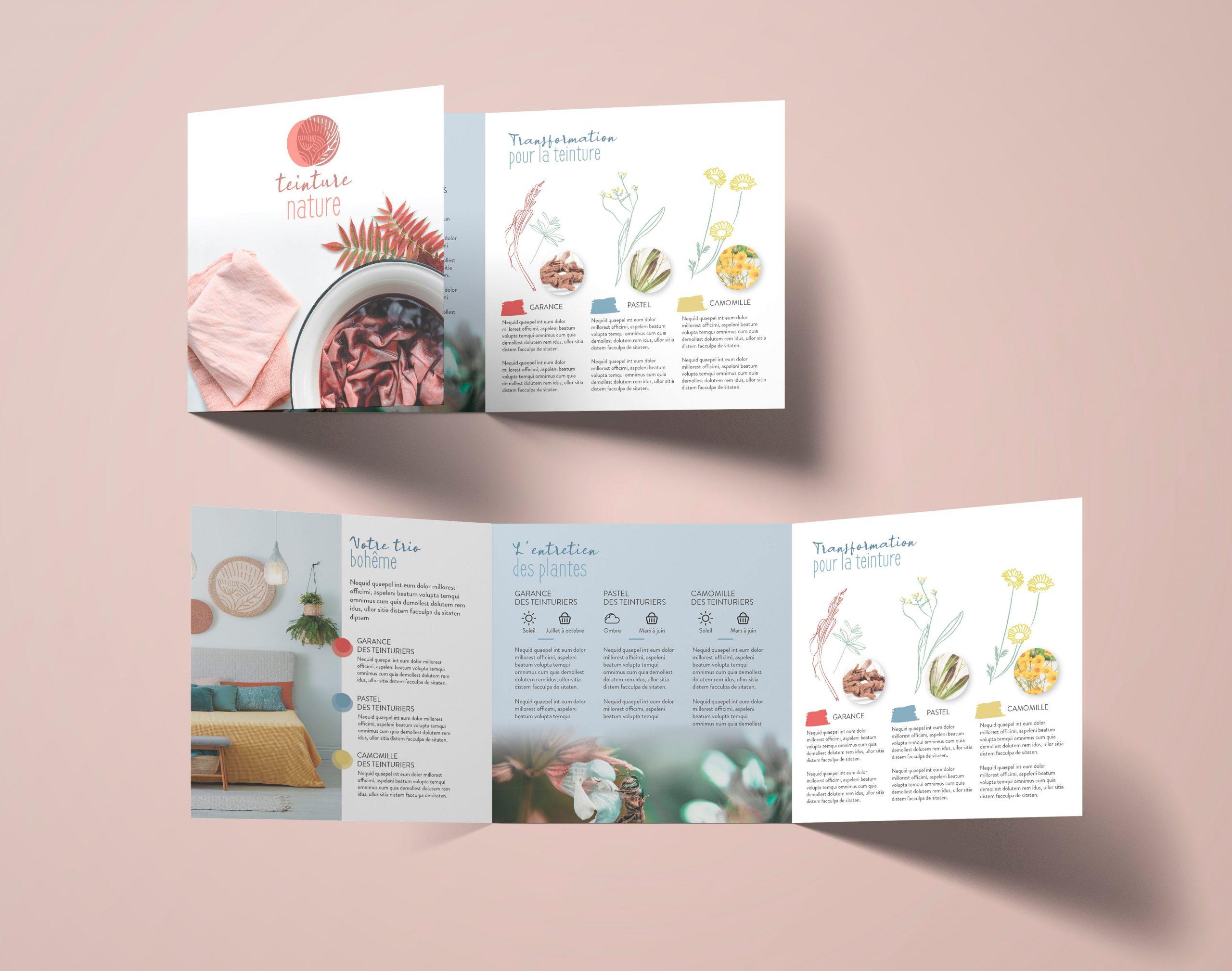 Floramedia Portfolio Concept Teinture Nature dépliant